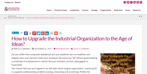Leadership and Change How to Upgrade the Industrial Org