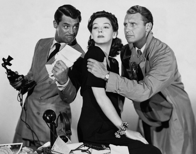 Cary Grant et al His Girl Friday
